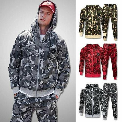 Men Camouflage Sweat Suit 2020 Brand New Tracksuit Set Men Sweatshirts Sweatpant