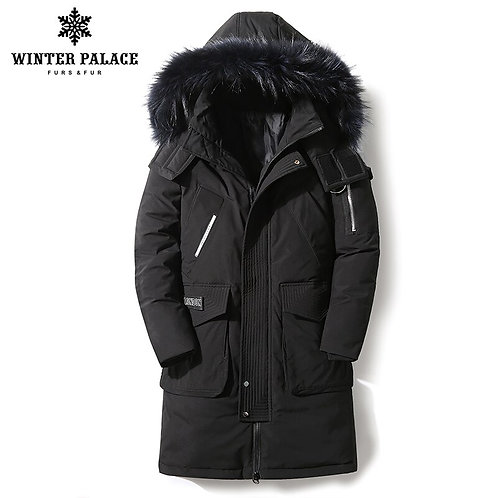 Winter Men's Warm Down Jacket High Quality Coat With Fur Collar Down Coat