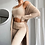 Thumbnail: Three Piece Suit Sexy Women White Matching Set Crop Top and Long Pants Suit