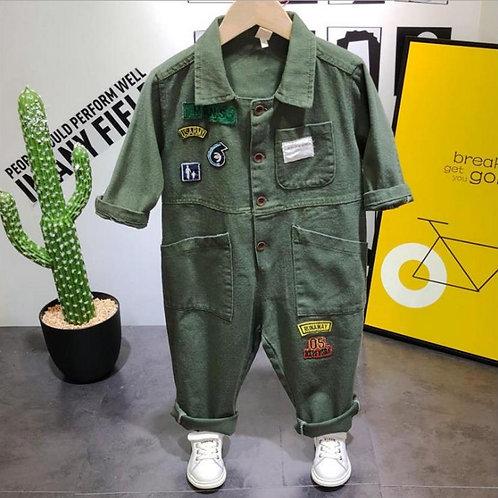 Spring&Autumn Children's Wear Set Children's Casual Workwear Denim Clothes Boys