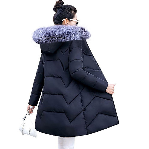 Coat Female Jacket  Hooded Parka Warm Winter Jacket Women Size 6XL  Jacket