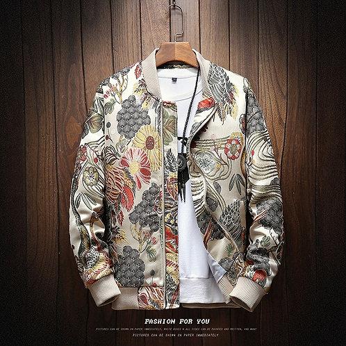 Autumn New Japanese Embroidery Men Jacket Coat Man Hip Hop Streetwear Men