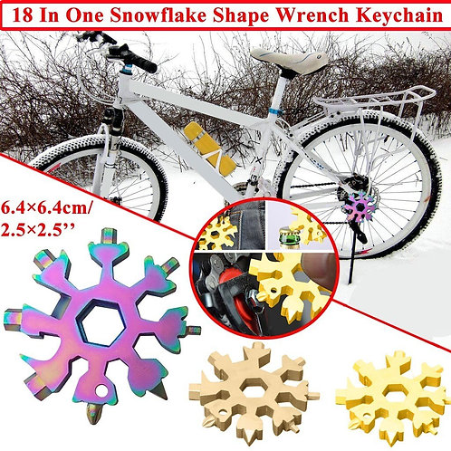 18 in 1 Multi-Function Wrenches Combination  Wrench Multifunction Snowflake