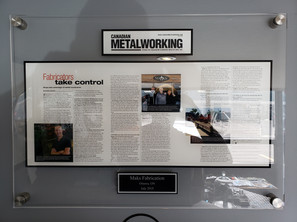 Maks featured in Canadian Metalworking Magazine