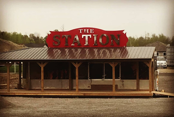 """The Station"" Stainless Sign"