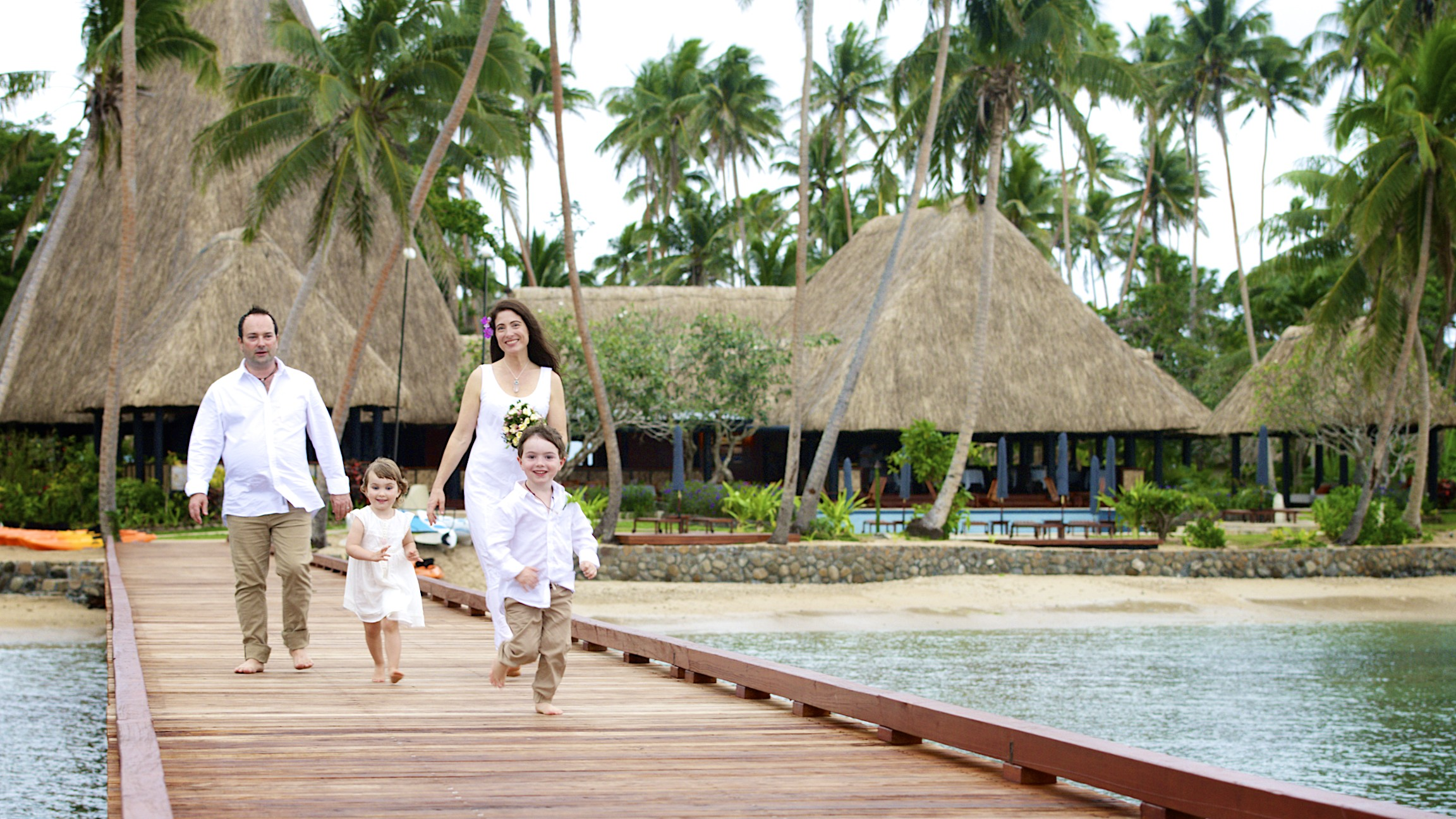 Family time at Jean-Michel Cousteau Resort, Fiji