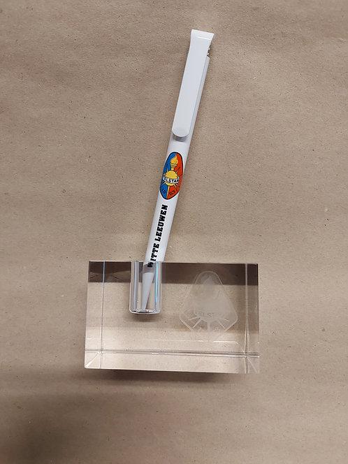Presse papier van cristal met 3D logo