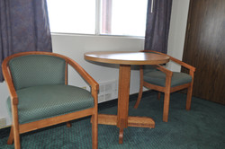 Sitting area in Deluxe Queen