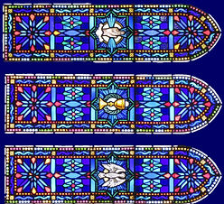 Stained Glass Trinity Windows