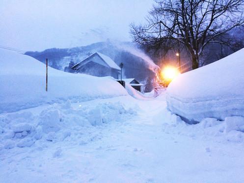 除雪車がやってくる!