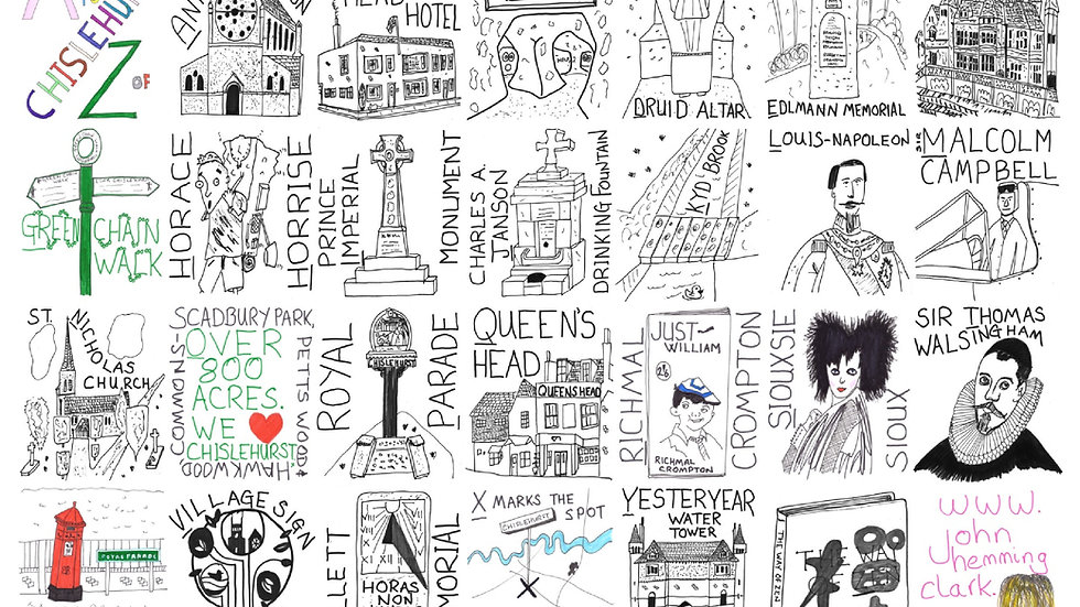10 x A to Z of Chislehurst greeting cards