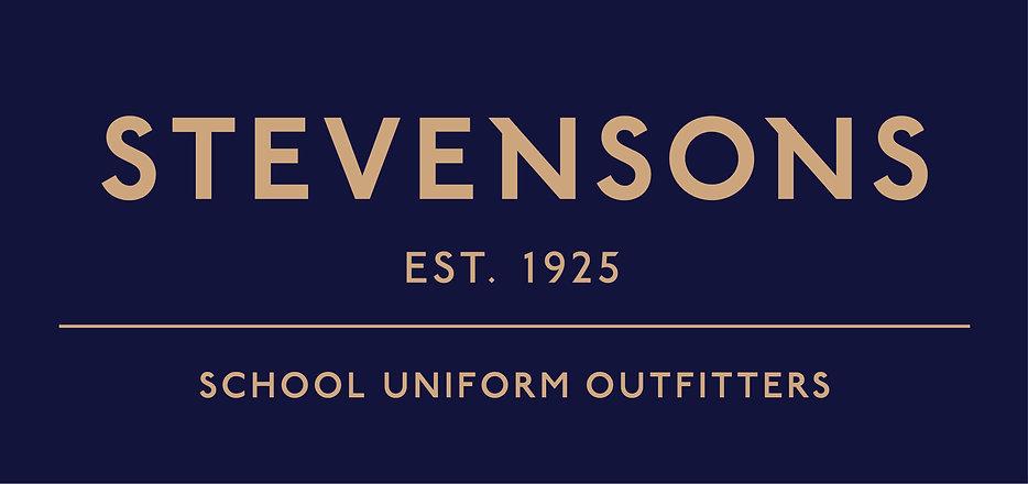 Stevensons School Uniform Gold out Blue