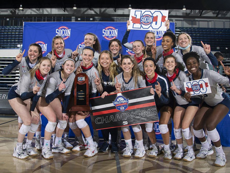 Samford Volleyball Wins Third-Straight SoCon Tournament Title With 3-0 Win Over Mercer