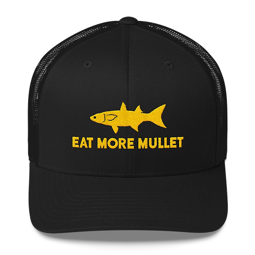 Yellow/Black Mullet Snapback