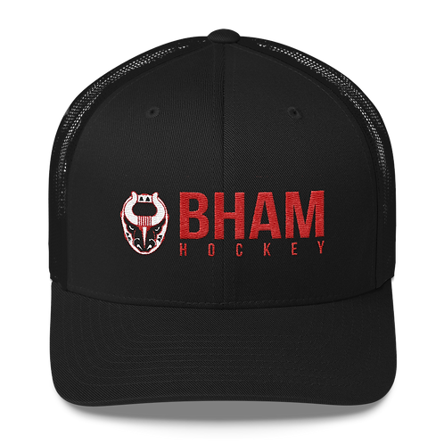 Bham Hockey Black Mesh Snapback