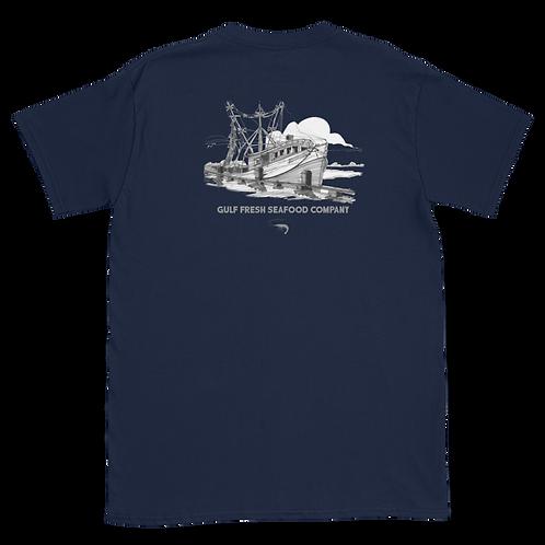 Navy Shrimp Boat Tee