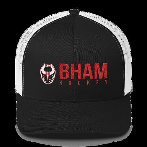 Bham Hockey White Mesh Snapback