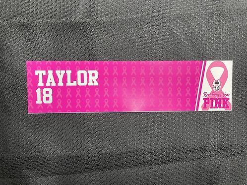 Troy Taylor - Pink Magnetic Locker Plate
