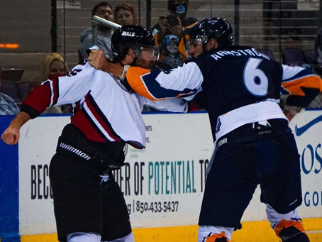 Bulls take down Ice Flyers on the Road