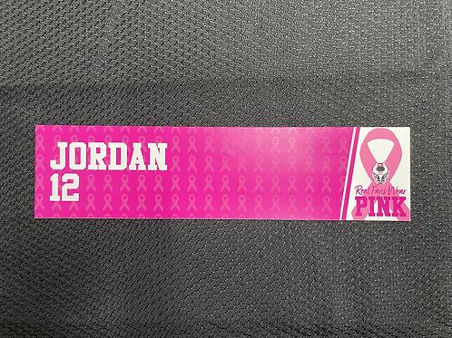 Russ Jordan - Pink Magnetic Locker Plate