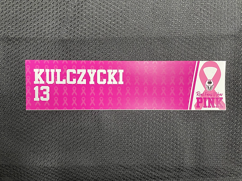 Kasey Kulczycki - Pink Magnetic Locker Plate