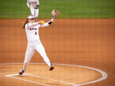 Auburn Softball starts season with no-hitter and sweep