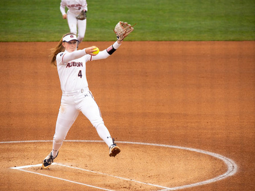 Auburn Softball starts season with no-hitter and sweep