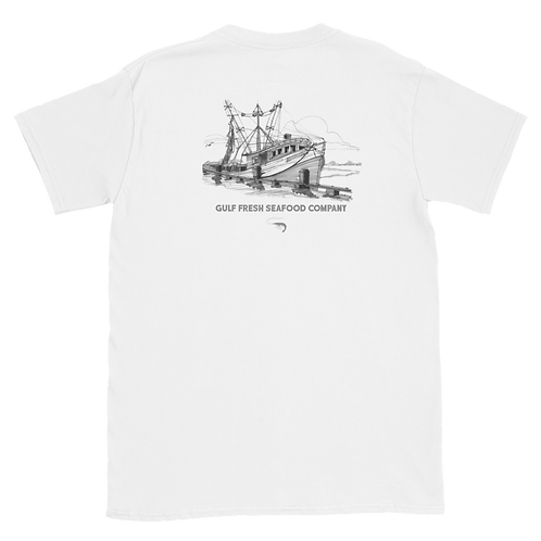 White Shrimp Boat Tee