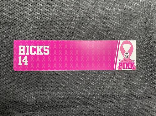 Jamey Hicks - Pink Magnetic Locker Plate