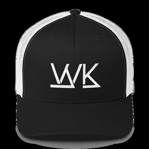 Black on White Trucker