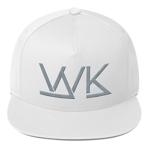 5 Panel White/Grey Logo