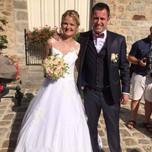 Robe de mariée crêpe et dentelle