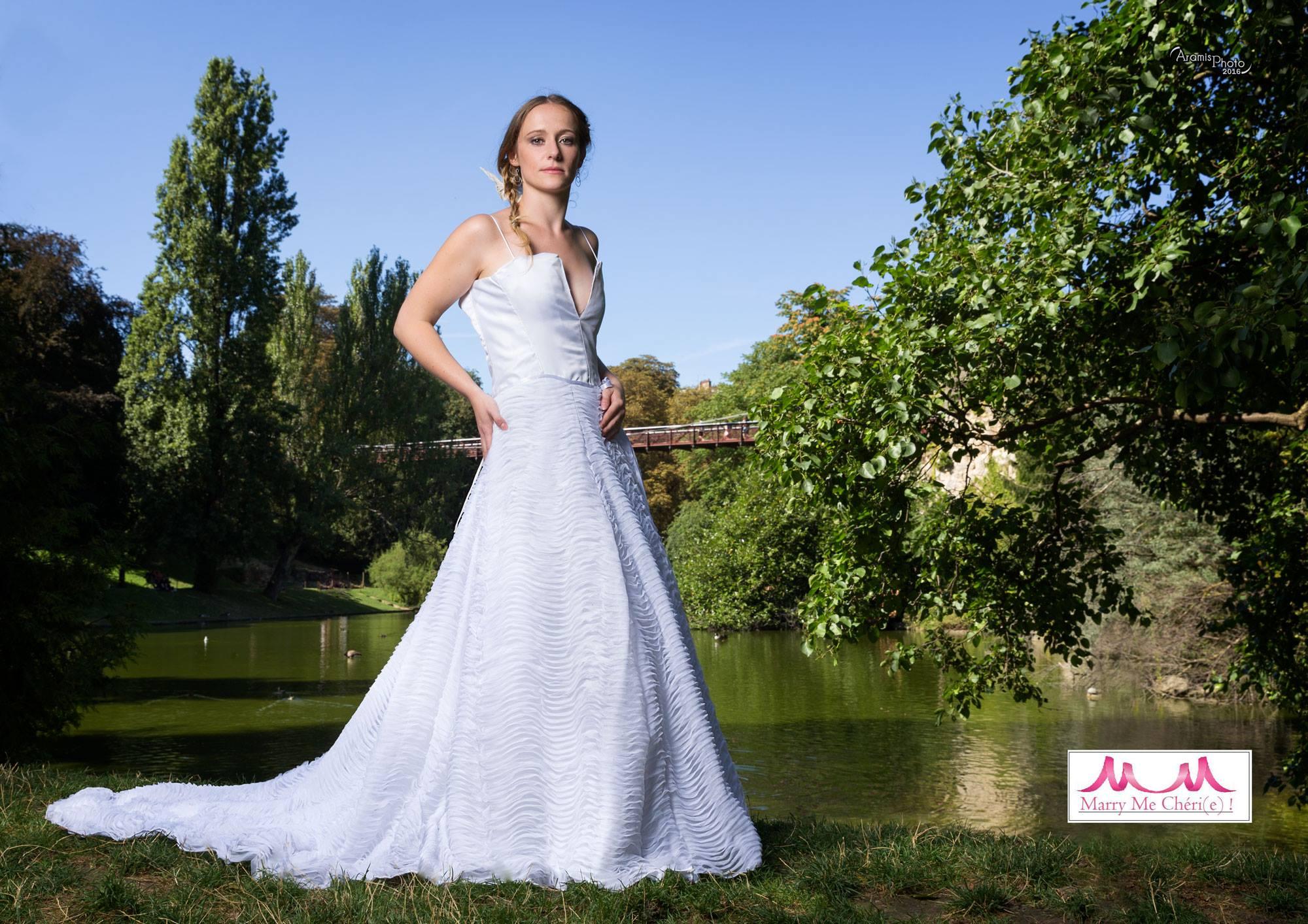Robe de mariée originale tulle