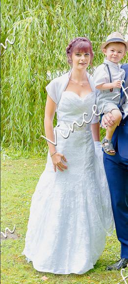 Robe de mariée dentelle drapée