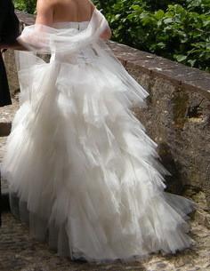 Robe de mariée mouchoirs de tulle