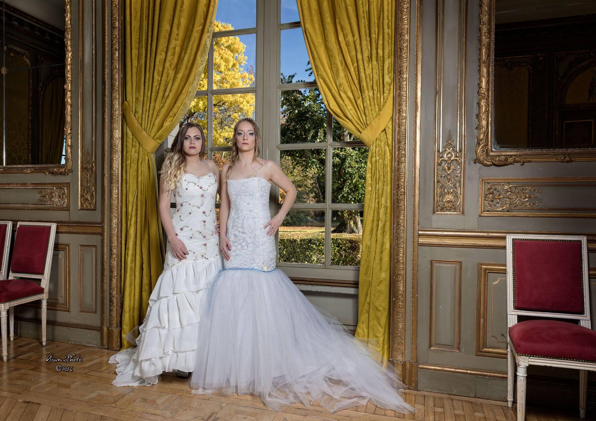 Robes de mariées sirène tulle