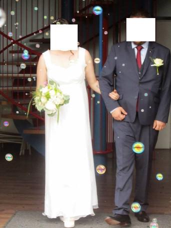 Robe de mariée empire mousseline de soie
