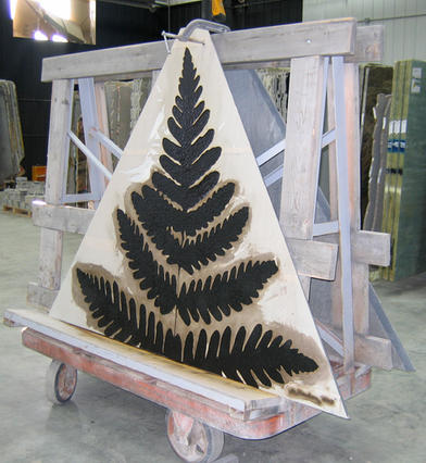 Fern panel during painting