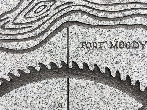 Carved granite