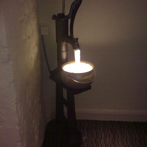 LED Water pump light installationn