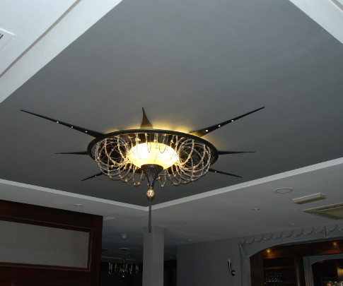 Glass barbed wire Chandelier