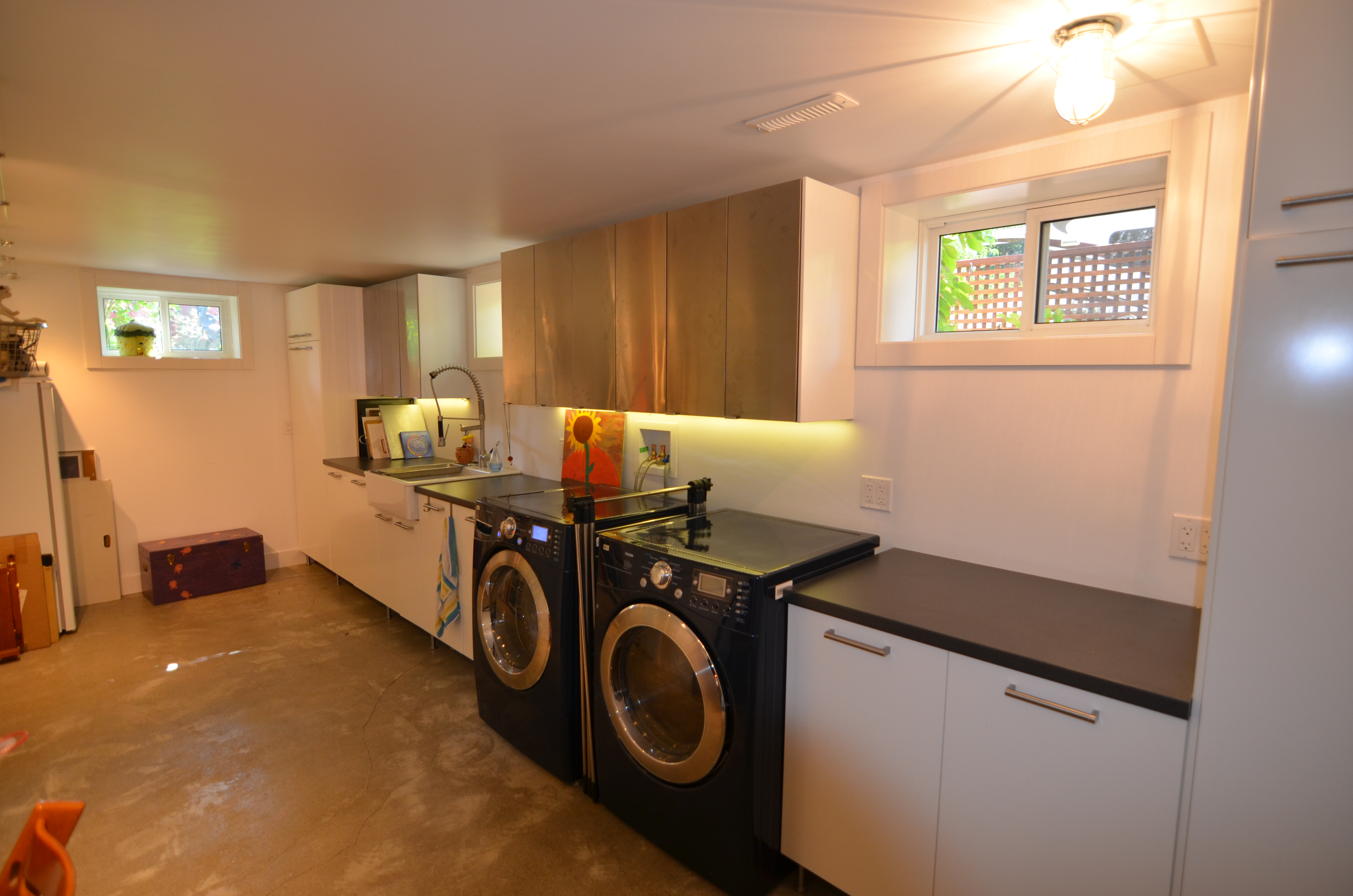 Laundry rooms too
