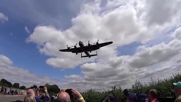 Wide Angle  Avro Lancaster Bomber Landin