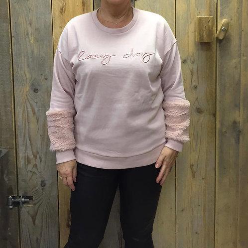 Blue Seven sweater pink bontje