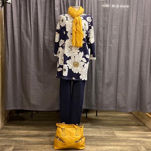 Seasons Longshirt Daisy blue