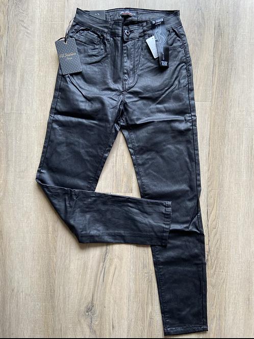DS Jeans leer broek Zwart Tippy