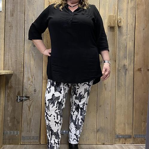 Lange tuniek/blouse effen div. kleuren