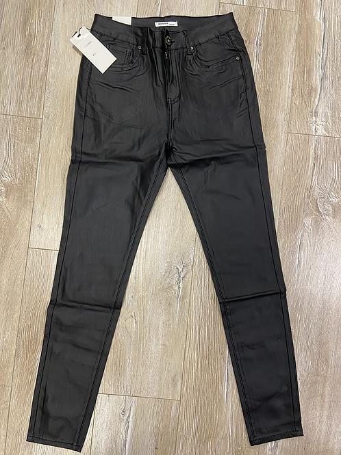 Goodies jeans leer broek Zwart