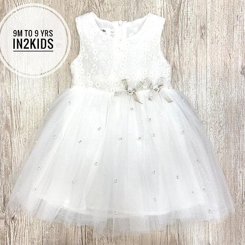 White Pearly Princess Dress