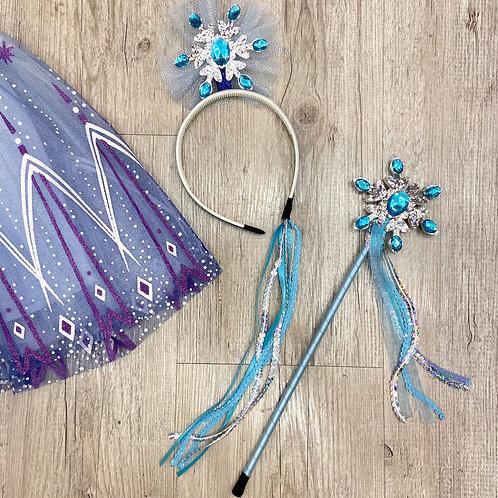 FrozenThemed Wand & Hairband Set